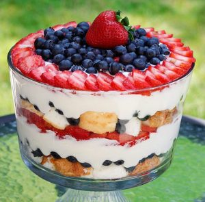low fat berry trifle